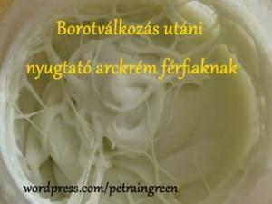 Borotválkozás utáni nyugtató arckrém férfiaknak, Fotó: Kis Petra, Petra in Green