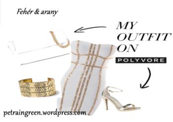 Fehér és arany összeállítás, Polyvore